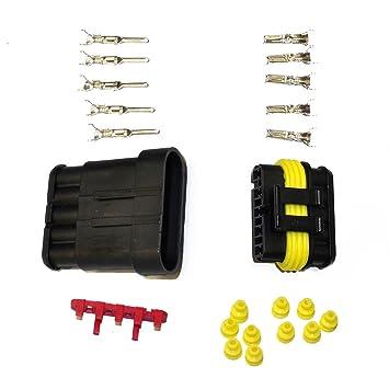 282089-1 KFZ Ersatz Stecker SET 282107-1 AMP Tyco Superseal 1.5 Kit 5-pin
