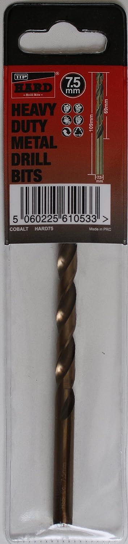 Brocas Metal duro TTP 7, 5 mm 1 x broca cobalto añ adido para taladrar metales má s acero inoxidable aluminio hierro fundido larga vida fá cil de usar mejores brocas para taladrar metal resistente se puede afilar