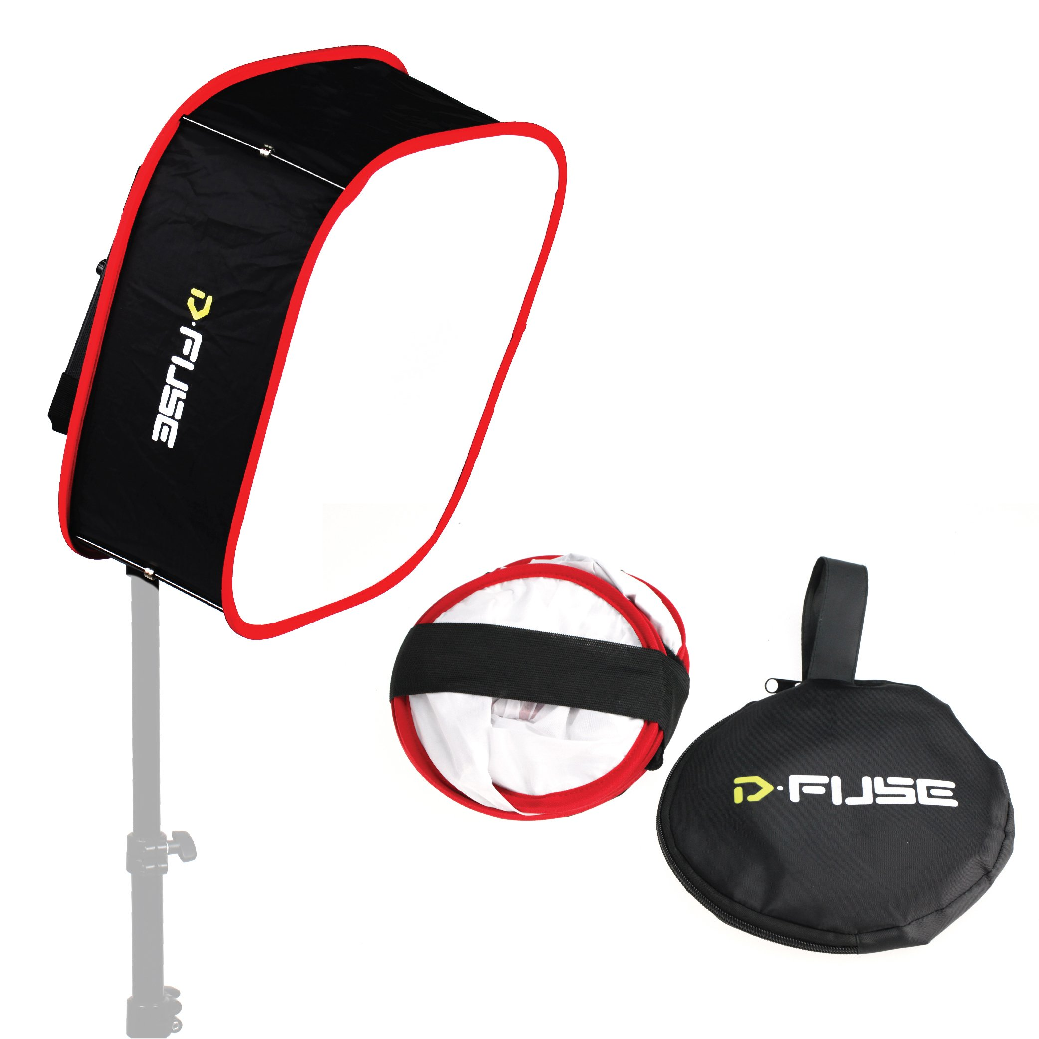 Kamerar D-Fuse Large LED Light Panel Softbox: 12''x12'' Opening, Foldable, Portable Diffuser, Carrying Bag, Strap Attachment, Photography, Photo Video