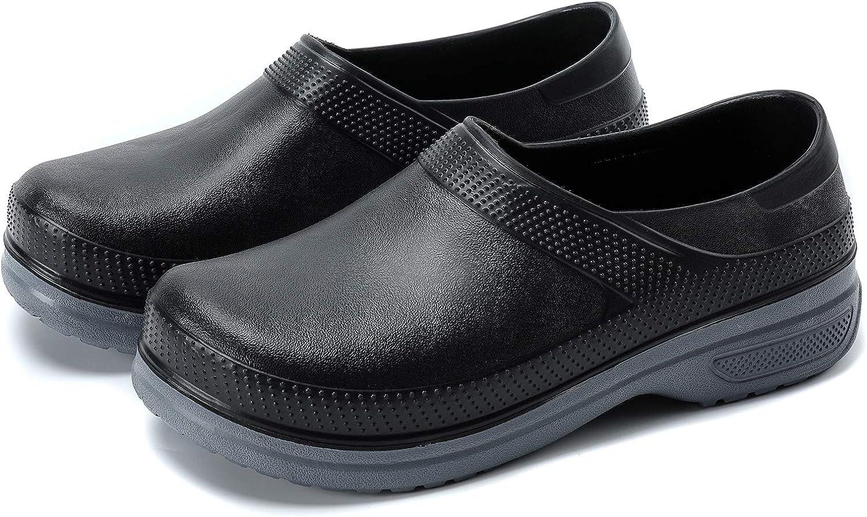DXINZHI Unisex Non Slip Food Service Work Sneaker |Professional Oil Water Resistant Nursing Chef Shoe | Men Black Chef Shoes Nursing Shoes