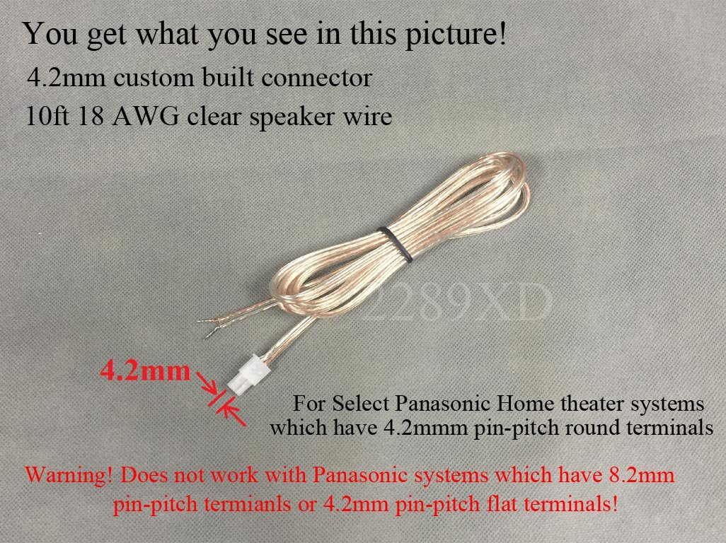 Amazon.com: 10ft Speaker Wire/Cable / Cord for Select Panasonic Home ...