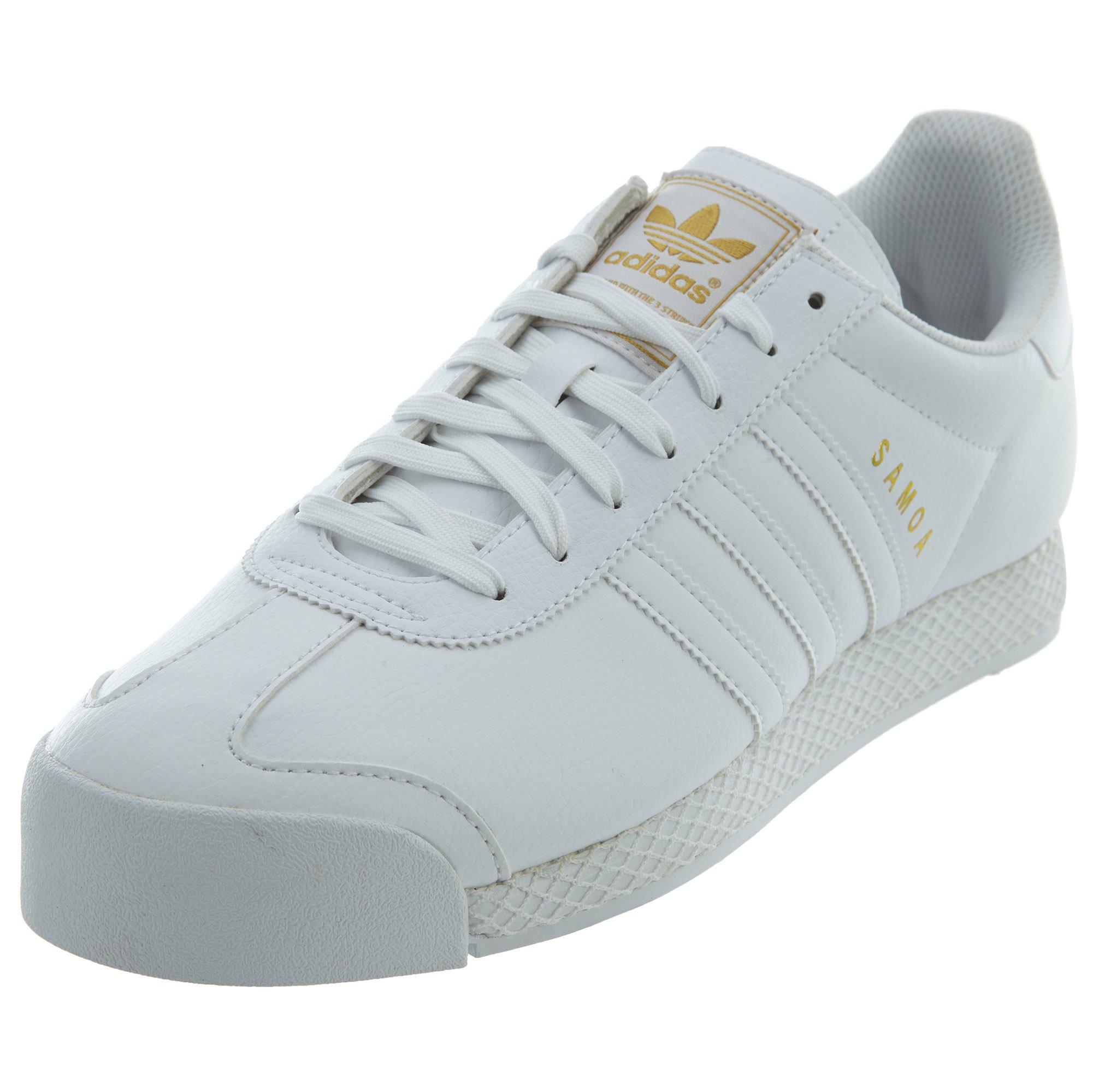 a8ef5f1c83524 adidas Originals Men's Samoa Retro Sneaker,White/White/Gold,10.5 M US