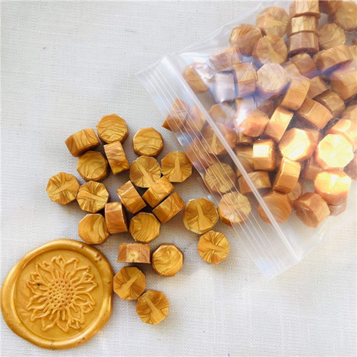 100Pcs//Bag Retro Vintage Sealing Wax Tablet Pill Beads for Envelope Wax Seal Set