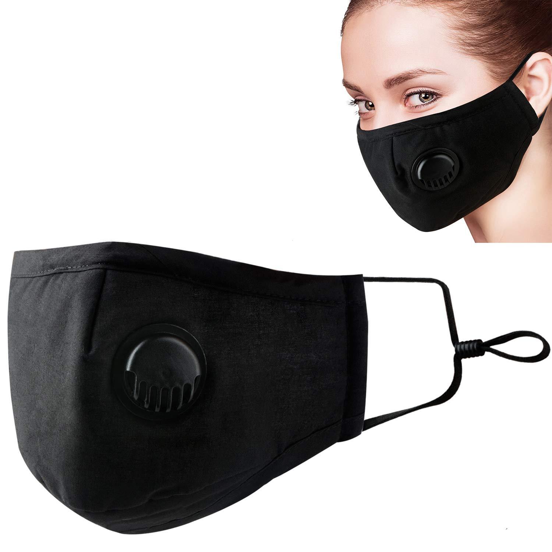 Blanketswarm Máscara de contaminación del Aire, 5 Unidades, protección de Grado Militar, respirador Facial, máscara de Seguridad de carbón Activado para Exteriores,