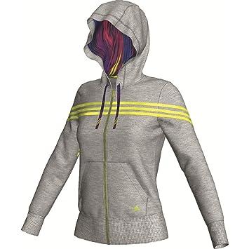 adidas Seasonal Favorites Iconic 3S KApuzen Jacke Damen grau