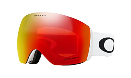 ba5c30faf131 Image Unavailable. Image not available for. Color  Oakley Flight Deck Prizm  Snow Goggles Matte White With ...