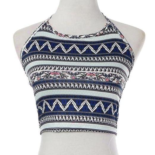 756dfff117f23 FORESTIME Women Boho Tank Tops Bustier Bra Vest Crop Bralette Shirt Blouse  Cami (S