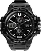 Panegy - Montre Homme Digitale Imperméable à la mode - Multifonctions Luminueuse - Date Chrono Temps Alarme - Bracelet Etanche 50M pour Sport Extérieur - 4 Couleurs Optique