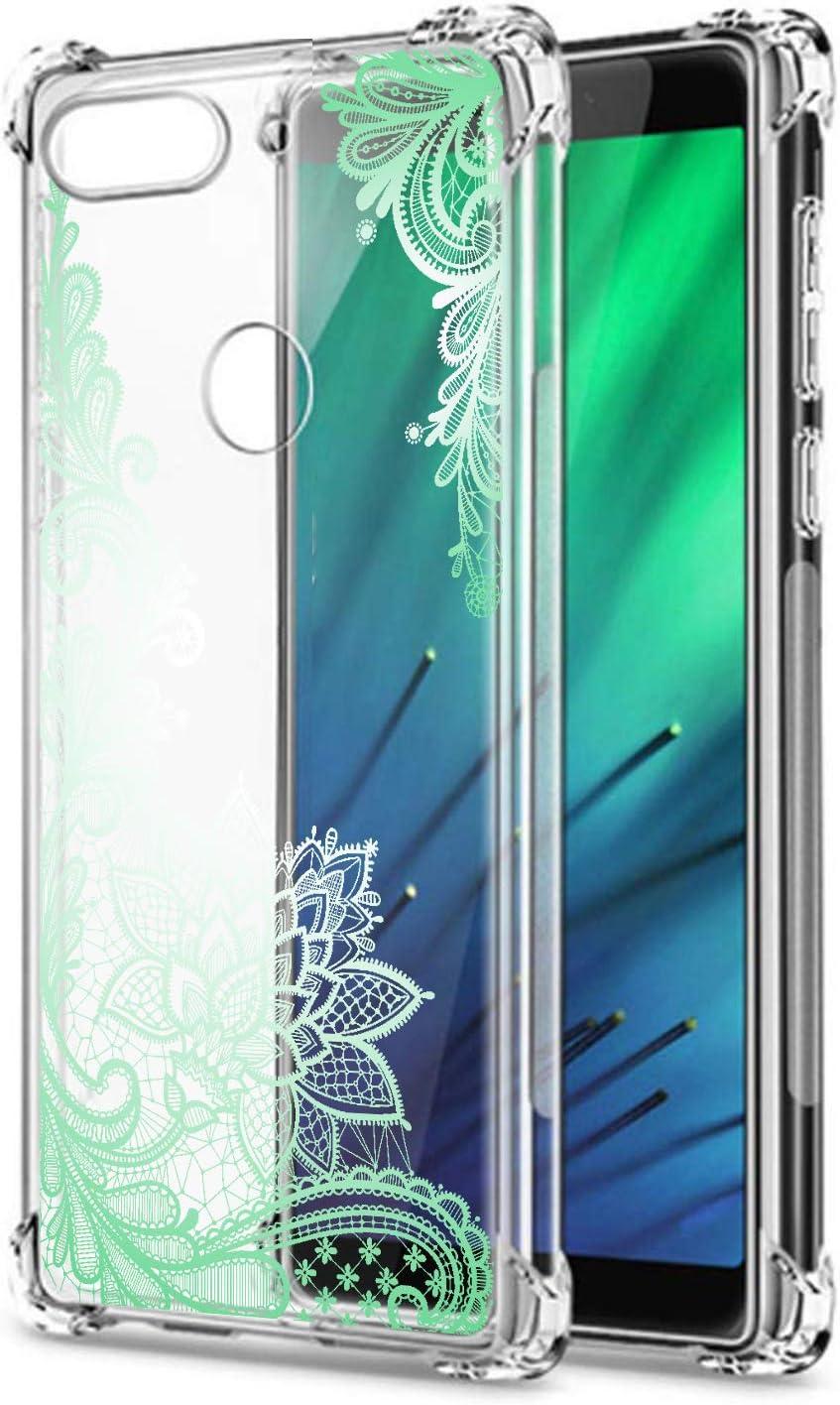 Oihxse Cristal Compatible con Samsung Galaxy J330/J3 Pro Funda Transparente TPU Silicona Estuche Airbag Esquinas Anti-Choque Anti Rasguños Diseño Rosa Flower Caso (Flores B10)