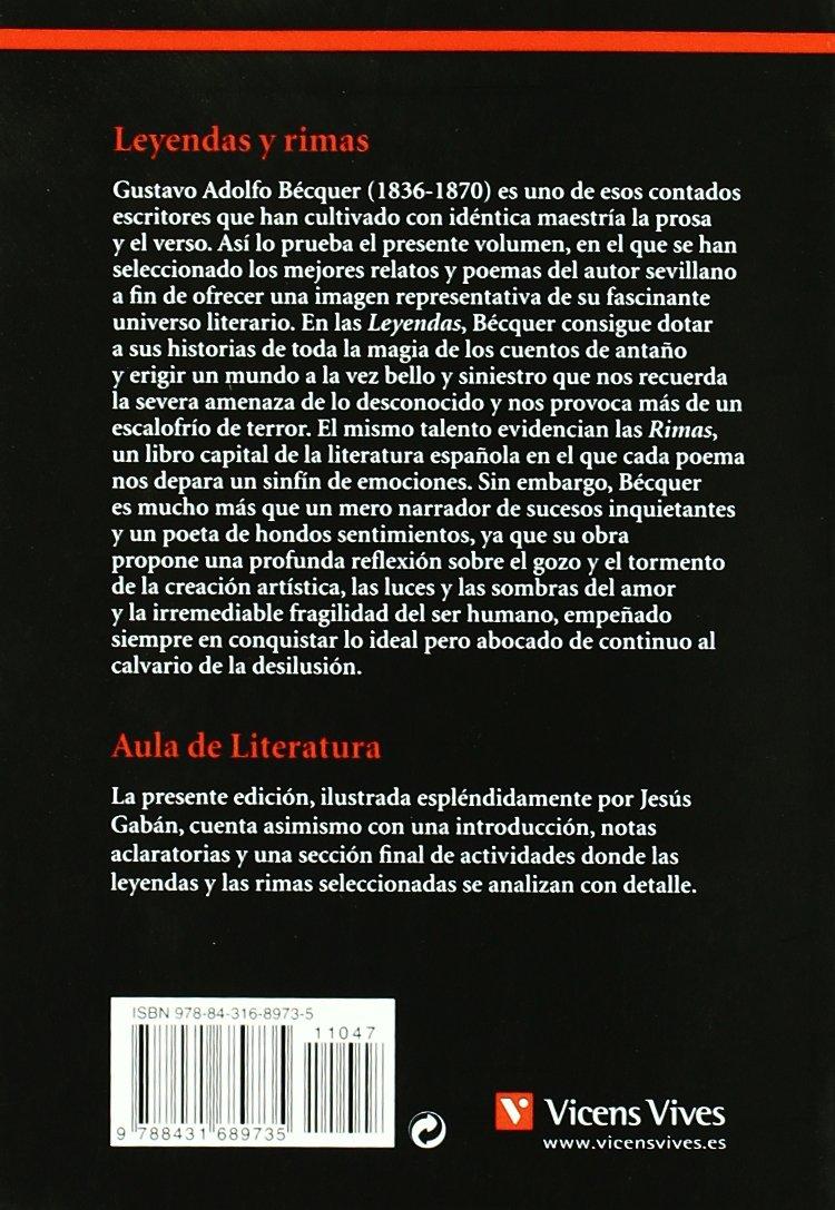 Leyendas Y Rimas (Aula de Literatura): Amazon.es: Joan Estruch Tobella, Juan Ramon Torregrosa Torregrosa, Agustin Sanchez Aguilar, Jesús Gaban Bravo: Libros