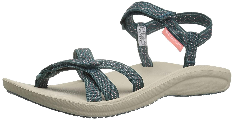 Columbia Santiam Sandals Women Mud/Canyon Blue Schuhgröße US 11 6cqCF