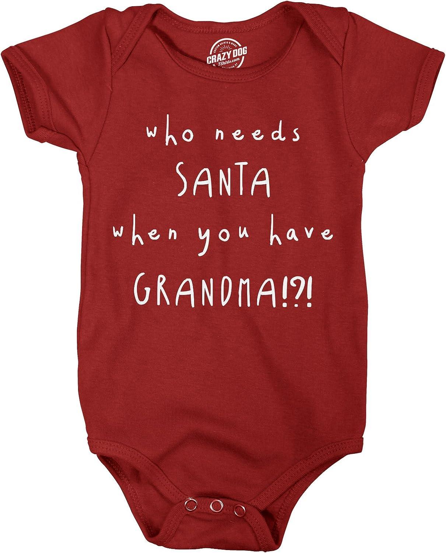 Holiday Outfit Who Needs Santa Grandma Christmas Onesies\u00ae Christmas Bodysuit