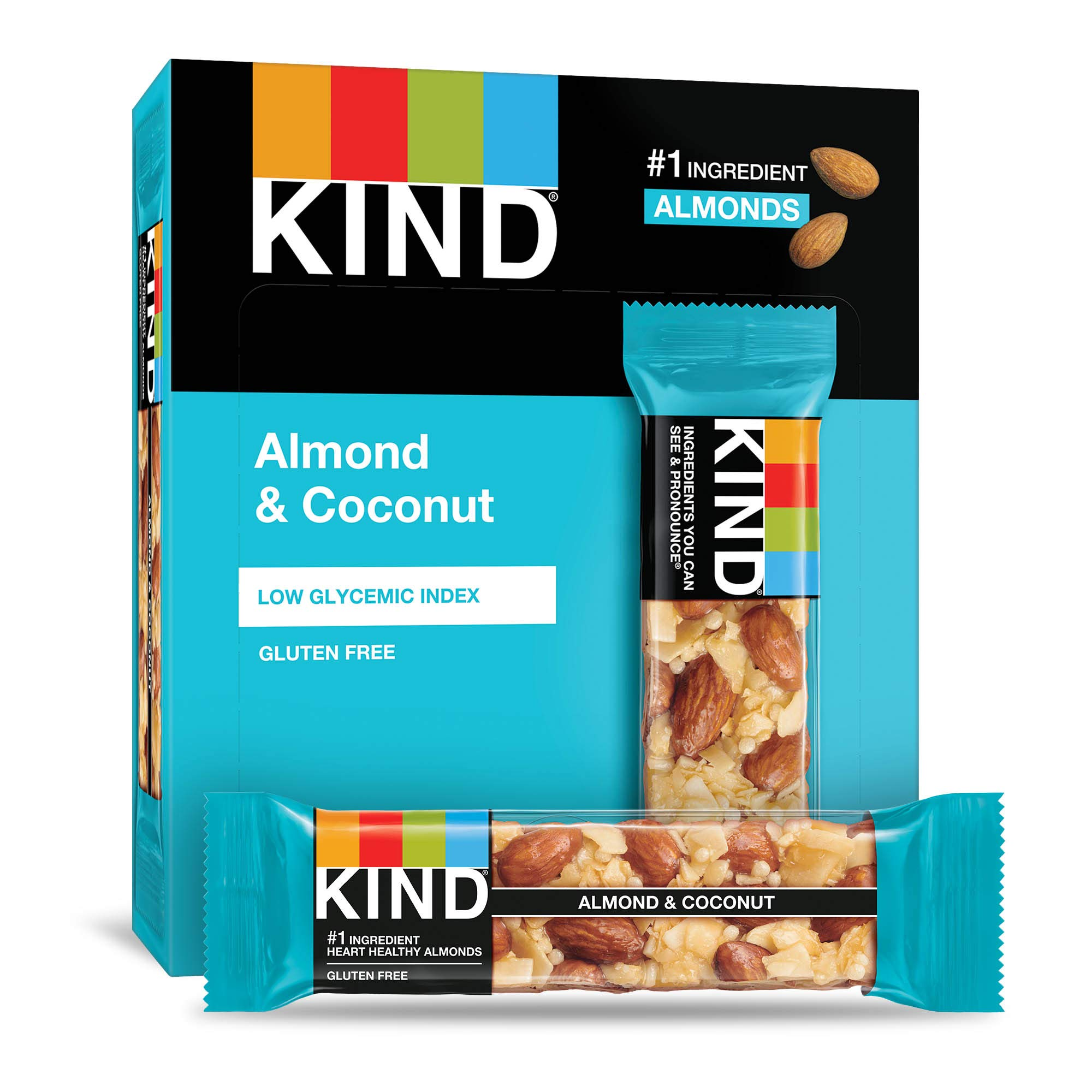 KIND Bars, Almond & Coconut, Gluten Free, 1.4 Ounce, 12 Count by KIND