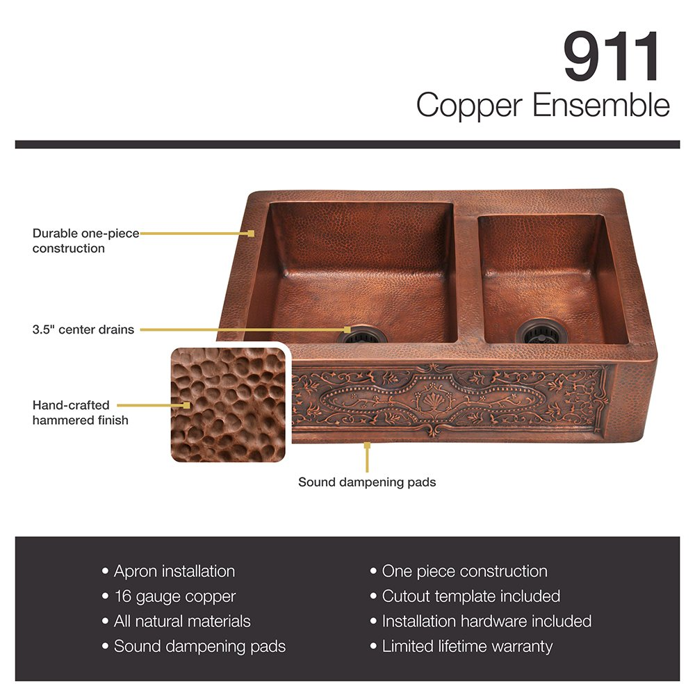 double bowl format - Copper Kitchen Sinks Reviews