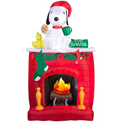 snoopy christmas 7ft lighted inflatable