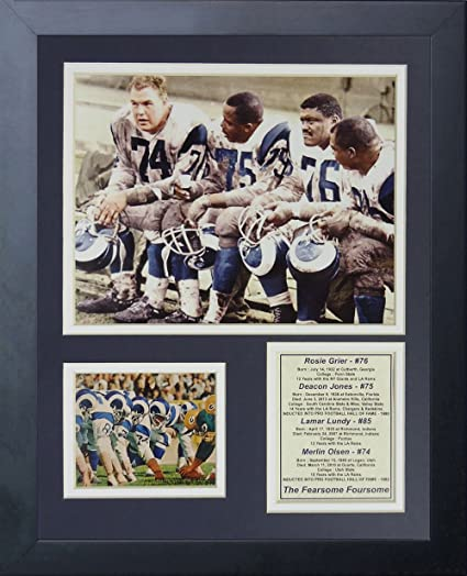 Legends Never Die Los Angeles Rams Fearsome Foursome Framed Photo Collage 11 x 14-Inch