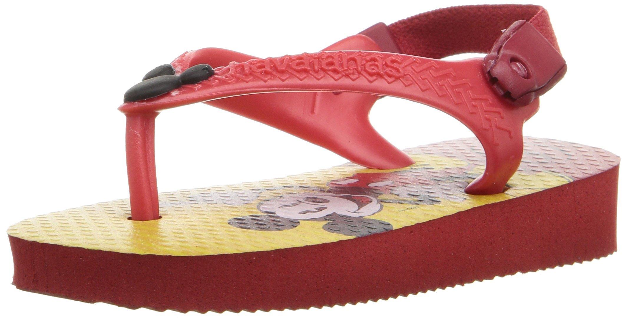 Havaianas Kids Flip Flop Sandals, Disney Classics, Donald Duck, Ice Blue ,Red/Black,20 BR (6 M US Toddler)