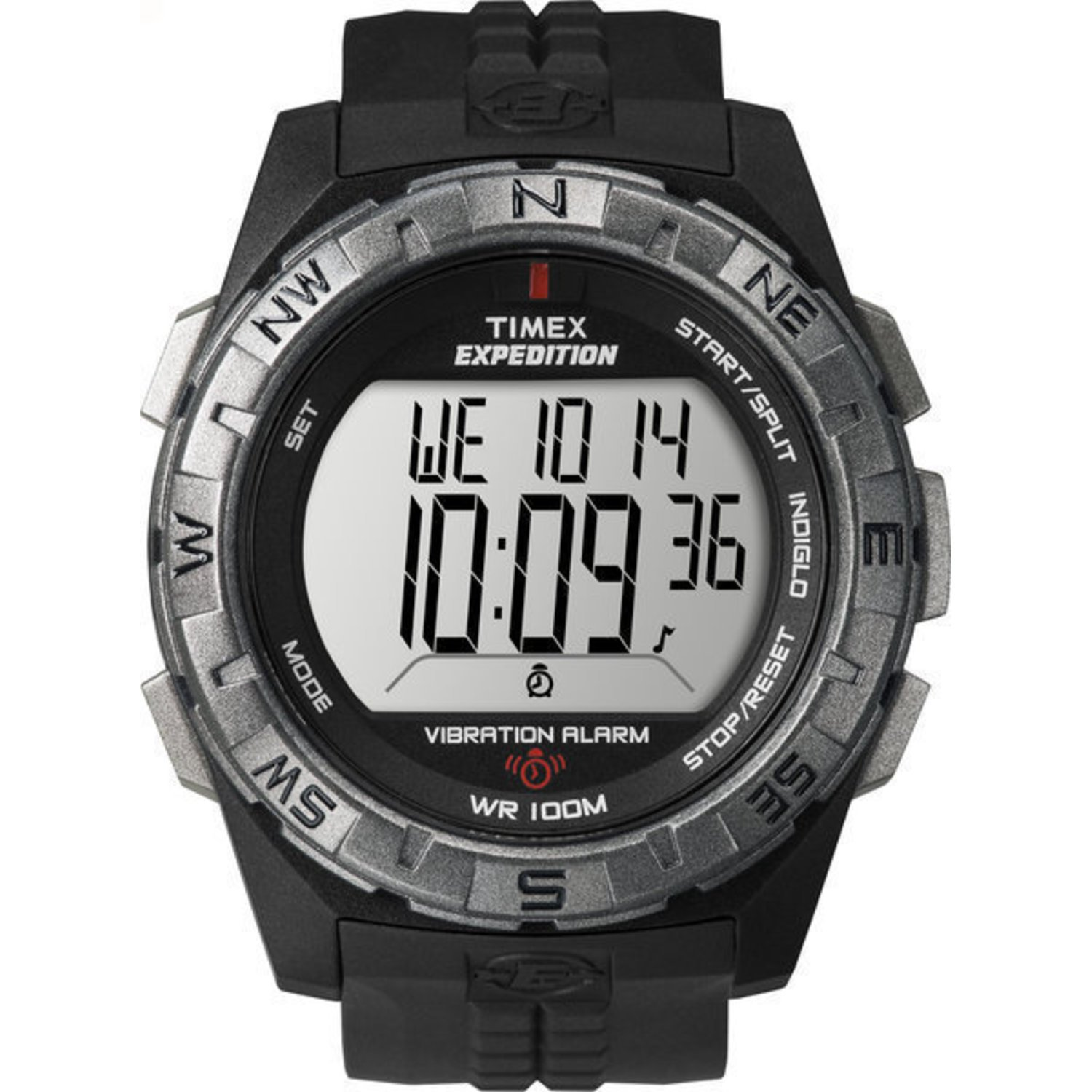 Timex Men s T49851 Expedition Vibrating Alarm Black Resin Strap Watch
