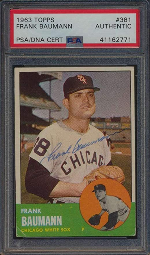 381 Frank Baumann 1963 Topps Baseball Cards Graded Auto
