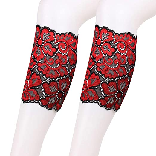 29977d9c21b8b OULII Women Stretch Lace Boot Leg Cuffs Soft Elastic Laced Boot Sock ...