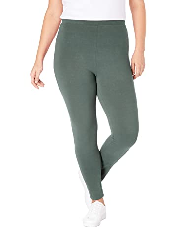 731c0aae3c Woman Within Women's Plus Size Stretch Cotton Legging