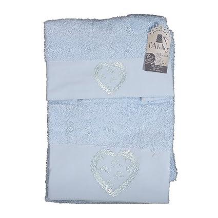 Atelier Juego toallas baño de esponja Shabby Chic 17 Corazón Viso + invitados Varios colores