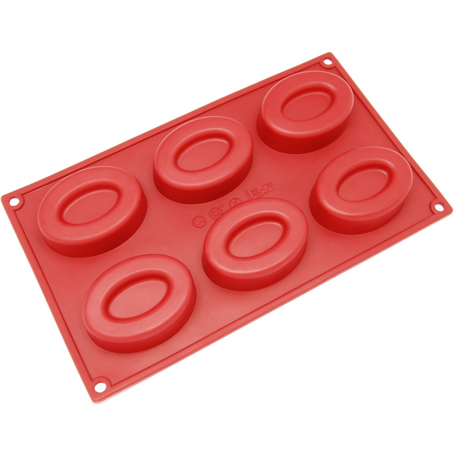 Generic SL-133RD 8-Cavity Square Silicone Mold for Bread, Loaf, Muffin, Brownie by Generic