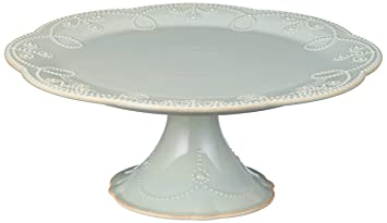 Amazon.com Lenox French Perle Pedestal Cake Plate Medium Ice Blue Cake Stands Kitchen \u0026 Dining  sc 1 st  Amazon.com & Amazon.com: Lenox French Perle Pedestal Cake Plate Medium Ice Blue ...