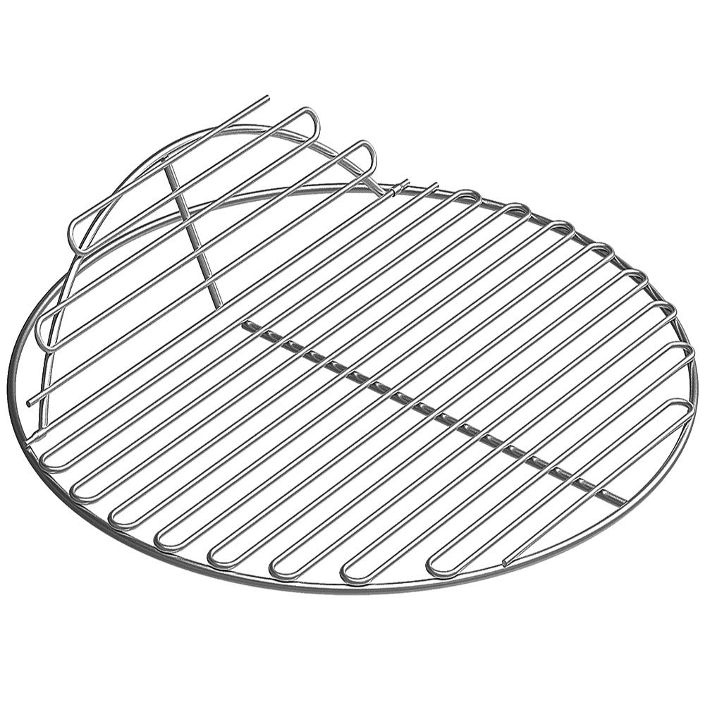 SELEWARE SUS304 Stainless Steel Round Grid Hinged Cooking Grate Replacement for Large Big Green Egg Kamado Joe Classic Char-Griller Barbecue Ceramic Grill and Smoker, 18.5'' Diameter by SELEWARE