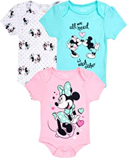 0-6 Disney Baby Girls Minnie Mouse 3-pc Set in Gift Box