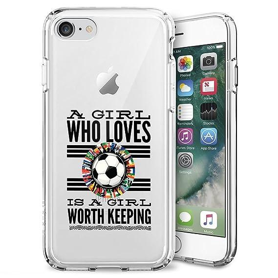 165c7f39ea11e Amazon.com: Football iPhone 7 8 Case Clear, By Milostar Design TPU ...