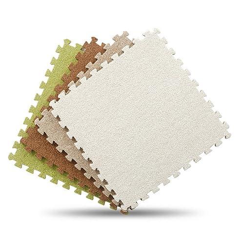 GWELL EVA Schaumstoff Puzzlematte Mit Kurzflor Bodenmatte Spielteppich  Spielmatte Für Kinderzimmer Wohnzimmer 30x30cm Grau Stück X9