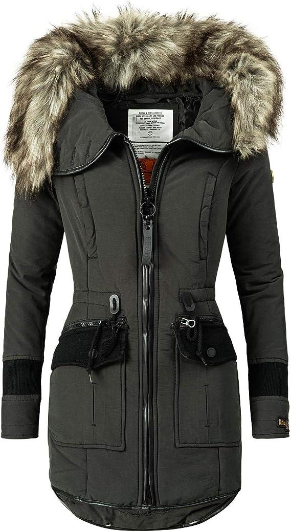 Khujo YM JA Manteau d'hiver pour femme 3 couleurs +