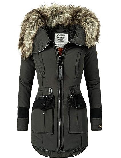 Khujo Damen Winter Mantel Winterparka YM Retro Bugs 4 Farben S XXL