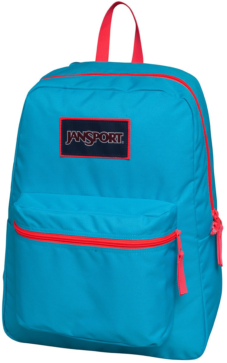 Jansport Overexposed Mammoth Blue/Fluorescent Red T08W0CU