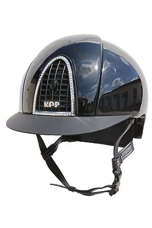 Kep cromo adultos brilla con cristales – negro/negro