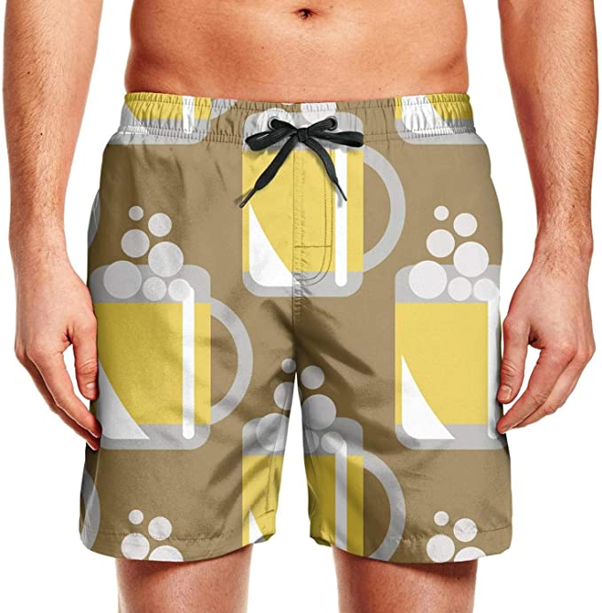Cartoon Africa Mens Funny Swim Trunks Quick Dry Summer Surf Beach Board Shorts with Mesh Lining//Side Pockets