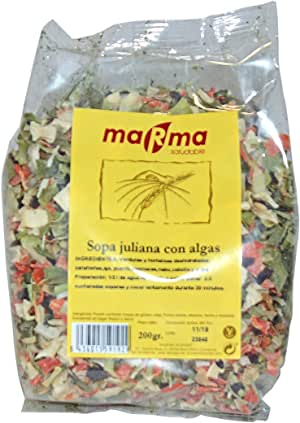 Bionsan MARMA Sopa Juliana con Algas - 6 Paquetes de 200