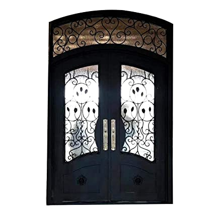 Wrought Iron Doors Double Exterior Front Entry Double Wrought Iron