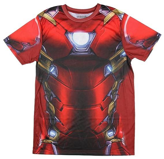 beeeafe743b2a Marvel Comics Captain America Civil War I Am Iron Man Men's Costume T-Shirt,