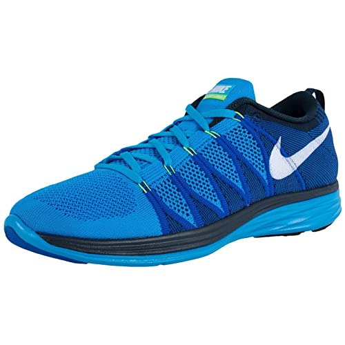 pretty nice 31831 d6845 Nike Flyknit Lunar 2 Men s Running Shoe, Blue White, US11  Buy Online at  Low Prices in India - Amazon.in