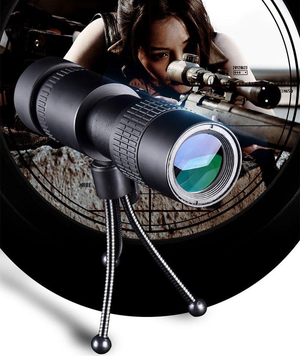 10-100x30 HD Visi/ón Nocturna Monocular Rango Ajustable /ópticas De Punto de Luz De Alta Potencia Bifocales Tr/ípode Con La Caza Acampar Al Aire Libre Extendida UrChoiceLtd Telescopio Monocular