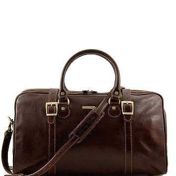 f983b73b534a Amazon.com: Tuscany Leather Berlin Travel leather duffle bag - Small ...