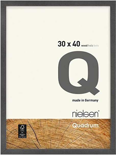 Nielsen Quadrum 30 X 40 Cm Grey Wooden Frame Natural Glass Amazon