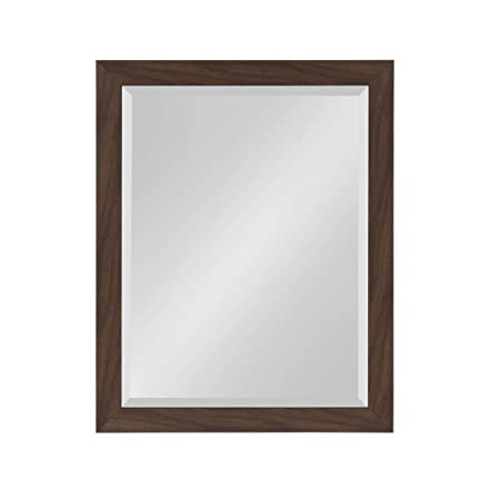 DesignOvation Beatrice Framed Wall Mirror, 21×27, Walnut Brown