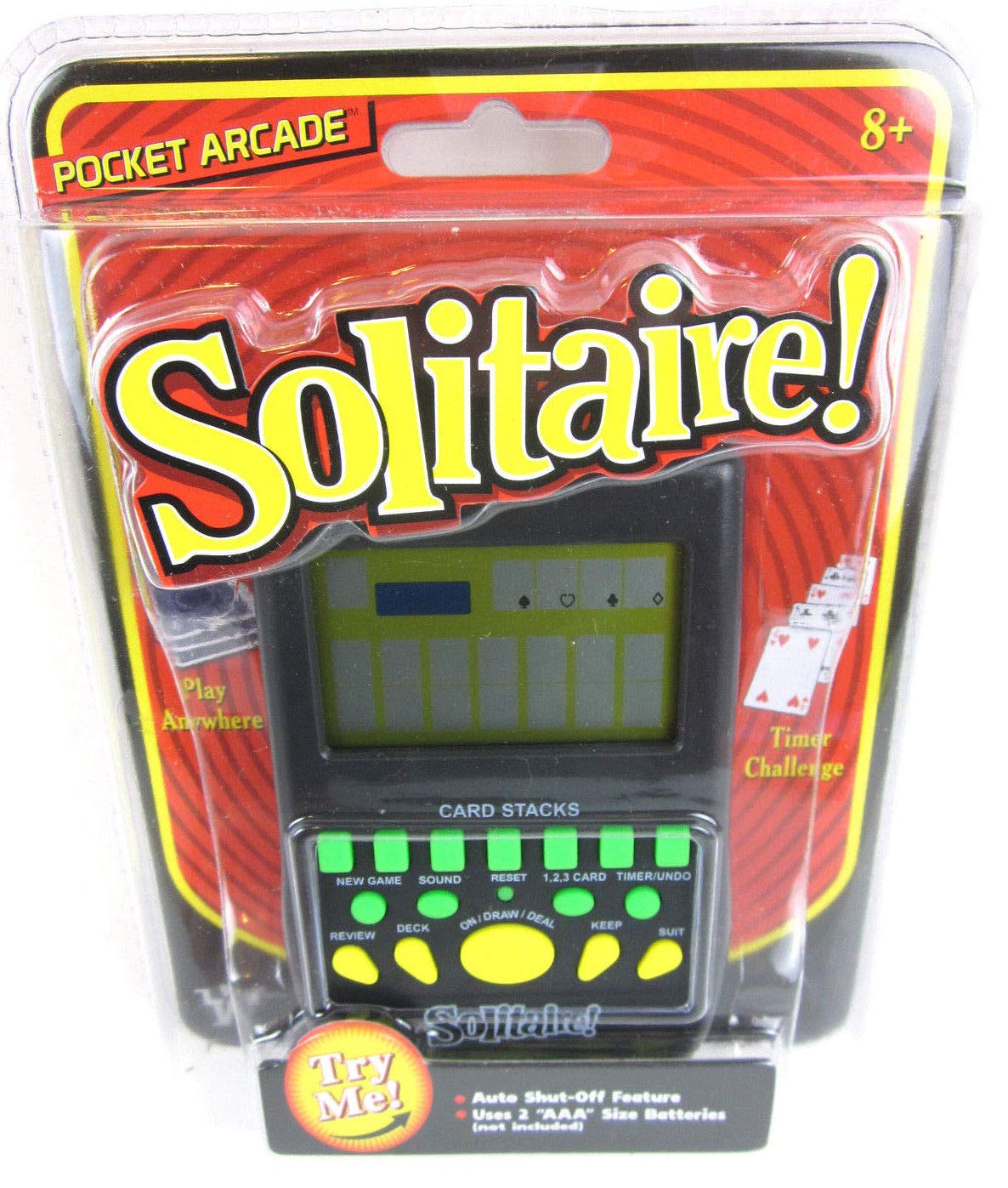 Big Game Toys~Handheld Solitaire Electronic Pocket Arcade Travel Card Game by Big Game Toys