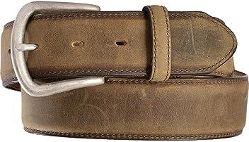 Justin Mens Bay Apache Leather Dress Belt Bay Apache 36
