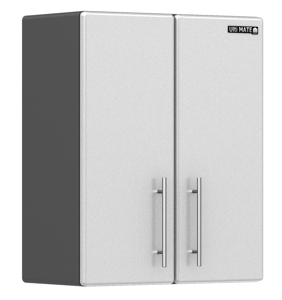 Ulti-MATE Storage 2-Door Wall Cabinet in Starfire Pearl - GA-09SW -Strong 3/4 MDF And PB Cabinet Construction With 300 lb load Rating - Adjustable 3/4 Shelf With 100 LB Load Rating - Fully Adjustable Recessed Euro Hinges - Brushed Chrome Handles - Ready to
