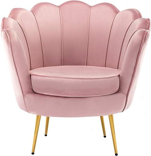 Mid Century Modern Upholstered Accent Chair,Retro Leisure Velvet Single Sofa