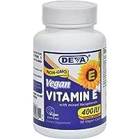 Deva Vegan Vitamins Natural Vitamin E 400iu with Mixed Tocopherols, 90-Count